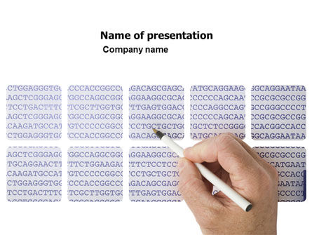 Technology and Science: DNA Sequences PowerPoint Template #05437