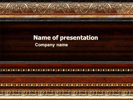 Art & Entertainment: Antique Frame Decoration PowerPoint Template #05438