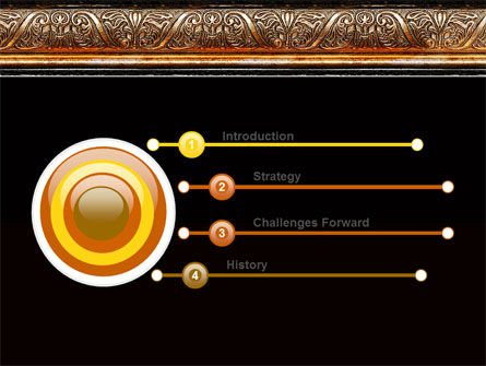 Antique Frame Decoration PowerPoint Template Slide 3