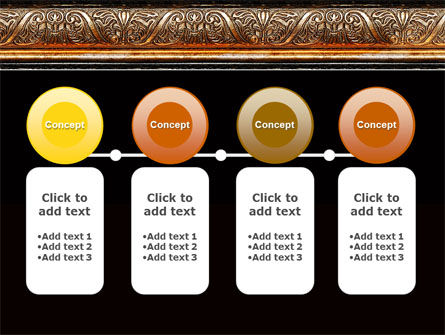 Antique Frame Decoration PowerPoint Template Slide 5