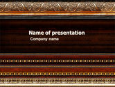 Art & Entertainment: Modelo do PowerPoint - antique frame decoração #05438