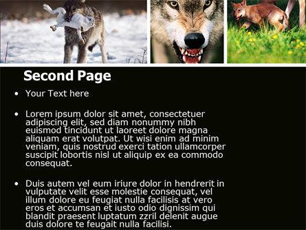 Wolf PowerPoint Template, Slide 2, 05439, Animals and Pets — PoweredTemplate.com