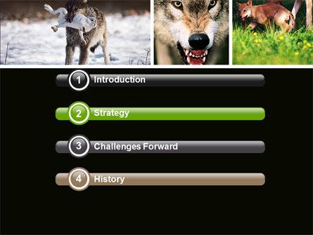 Wolf PowerPoint Template, Slide 3, 05439, Animals and Pets — PoweredTemplate.com