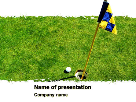 Sports: Marked Golf Hole PowerPoint Template #05441