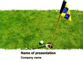 Sports: Plantilla de PowerPoint - agujero de golf marcado #05441