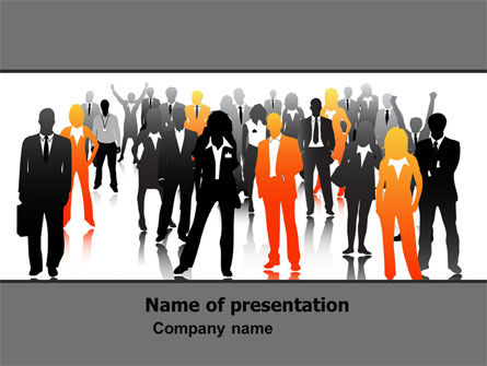 Business Personnel Silhouettes PowerPoint Template, 05442, Business — PoweredTemplate.com