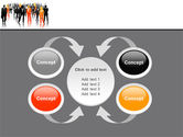 Business Personnel Silhouettes PowerPoint Template#6