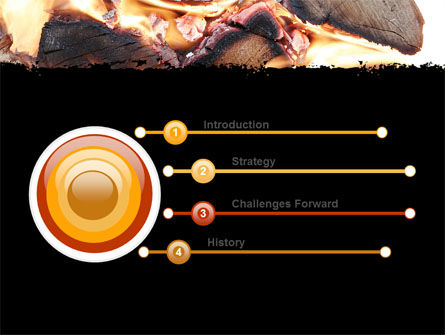 Bonfire PowerPoint Template Slide 3