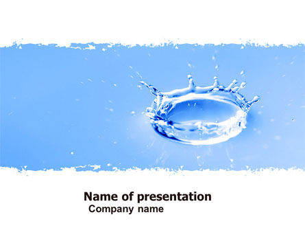 Nature & Environment: Blue water Splash PowerPoint Template #05444
