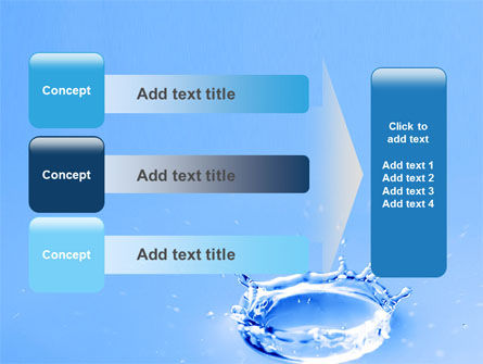 Blue Water Splash PowerPoint Template Slide 12