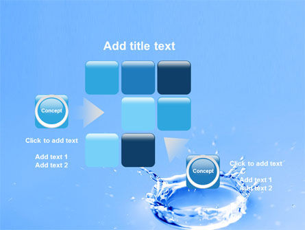 Blue Water Splash PowerPoint Template Slide 16