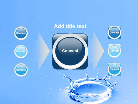 Blue Water Splash PowerPoint Template Slide 17