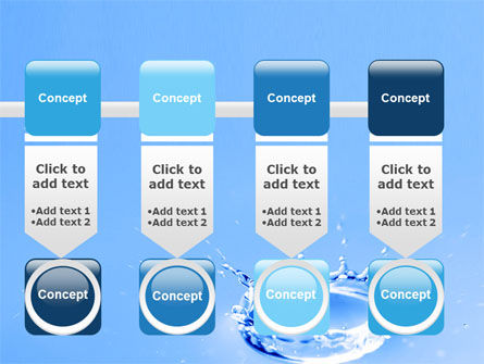 Blue Water Splash PowerPoint Template Slide 18