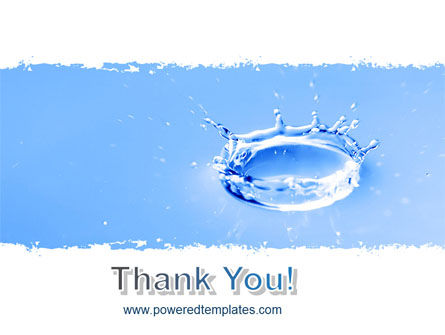 Blue Water Splash PowerPoint Template Slide 20