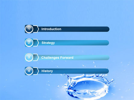 Blue Water Splash Powerpoint Template, Backgrounds | 05444