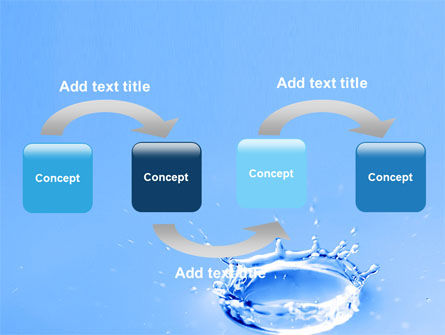 Blue Water Splash PowerPoint Template, Slide 4, 05444, Nature & Environment — PoweredTemplate.com