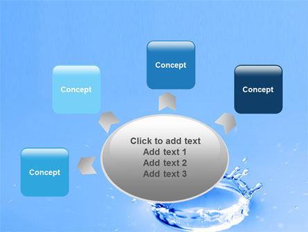 Blue Water Splash PowerPoint Template Slide 7
