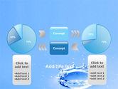 Blue Water Splash PowerPoint Template#11