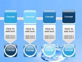 Blue Water Splash PowerPoint Template#18