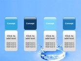 Blue Water Splash PowerPoint Template#5