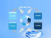 Blue Water Splash PowerPoint Template#6