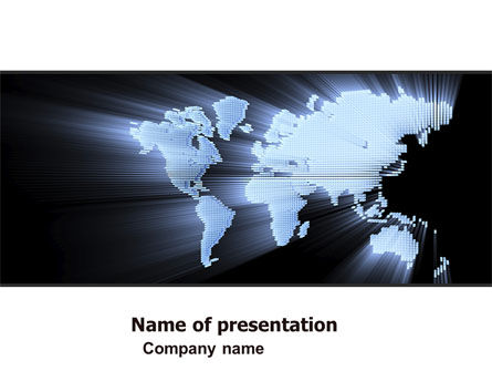 Transnational Corporation PowerPoint Template, 05446, Global — PoweredTemplate.com