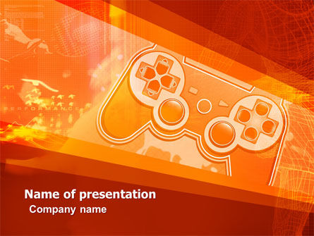 Game Joystick PowerPoint Template, 05447, Careers/Industry — PoweredTemplate.com