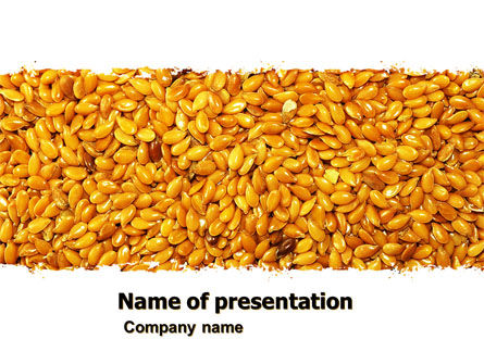 Flax PowerPoint Template, 05448, Agriculture — PoweredTemplate.com