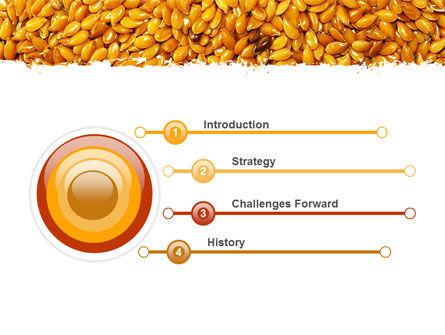 Flax PowerPoint Template, Slide 3, 05448, Agriculture — PoweredTemplate.com