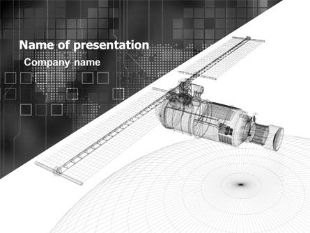 Project Of Satellite PowerPoint Template, 05449, Technology and Science — PoweredTemplate.com