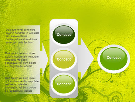 Green Ornament PowerPoint Template Slide 11
