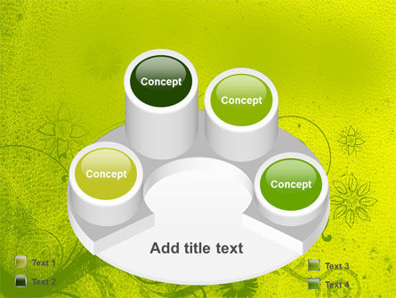 Green Ornament PowerPoint Template Slide 12