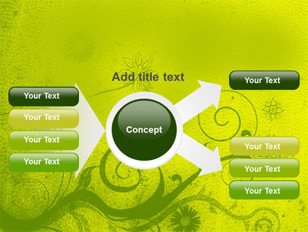 Green Ornament PowerPoint Template Slide 14