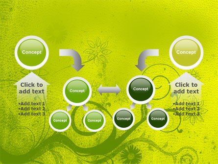 Green Ornament PowerPoint Template Slide 19