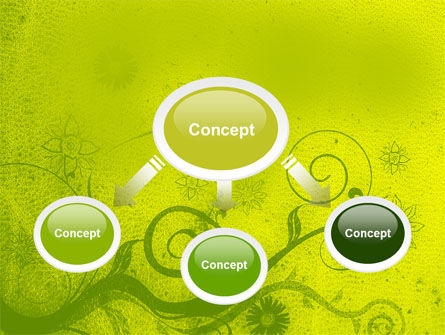 Green Ornament PowerPoint Template, Slide 4, 05450, Abstract/Textures — PoweredTemplate.com
