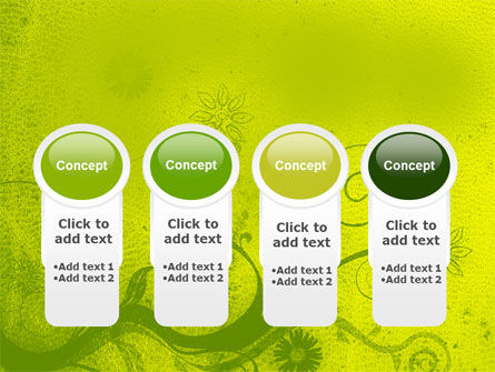 Green Ornament PowerPoint Template Slide 5