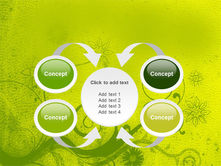 Green Ornament PowerPoint Template Slide 6