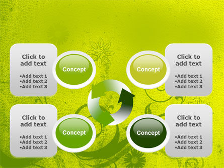 Green Ornament PowerPoint Template Slide 9