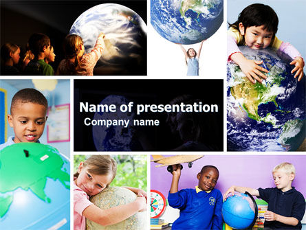 Pupils Of The World PowerPoint Template