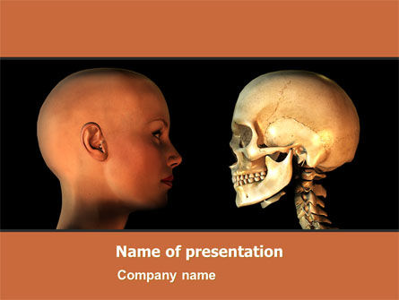 Medical: Human Skull PowerPoint Template #05452