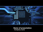 Technology and Science: Computer Scheme PowerPoint Template #05453