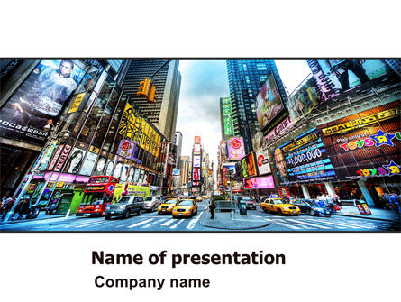 Times Square PowerPoint Template, 05456, Construction — PoweredTemplate.com
