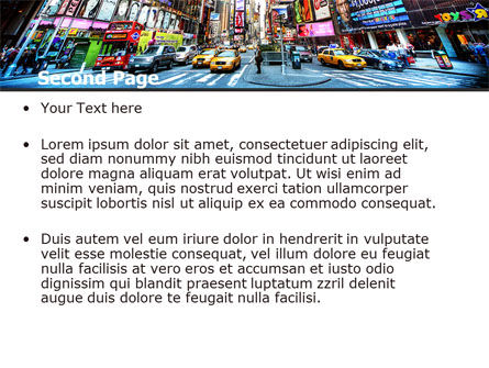 Times Square PowerPoint Template, Slide 2, 05456, Construction — PoweredTemplate.com