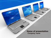Computers: Laptops Line PowerPoint Template #05457