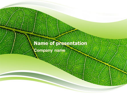Green Leaf Wave PowerPoint Template, 05458, Nature & Environment — PoweredTemplate.com