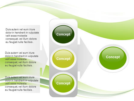 Green Leaf Wave PowerPoint Template Slide 11