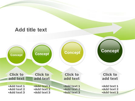 Green Leaf Wave PowerPoint Template Slide 13