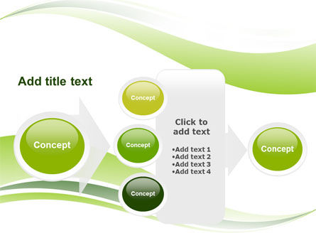 Green Leaf Wave PowerPoint Template Slide 17