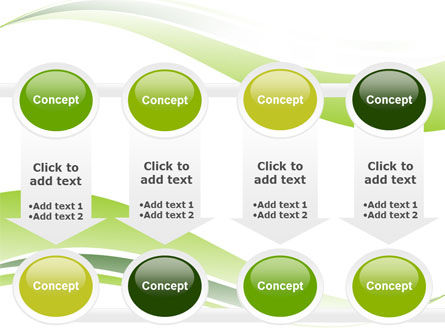 Green Leaf Wave PowerPoint Template Slide 18