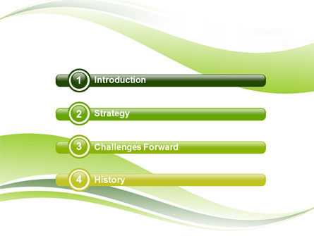 Green Leaf Wave PowerPoint Template, Slide 3, 05458, Nature & Environment — PoweredTemplate.com
